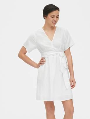 Gap Kimono Sleeve Tie-Belt Dress in Linen