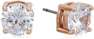 "Anne Klein Classic "" Gold-Tone Crystal Stud Earrings"