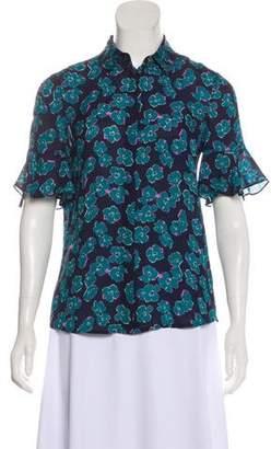 Draper James Short Sleeve Button-Up Blouse
