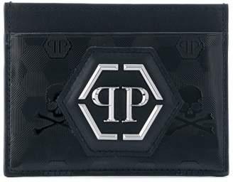 Philipp Plein logo plaque card holder