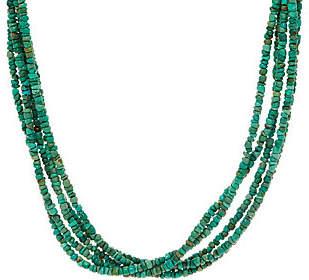 American West 5 Strand Freeform Gemstone BeadNecklace