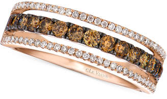 LeVian Le Vian Chocolate and White Diamond Channel Band in 14k Rose gold (5/8 ct. t.w.)