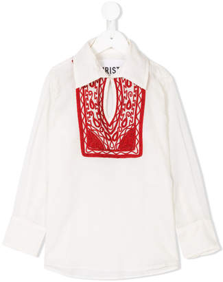 Touriste long sleeve embroidered blouse