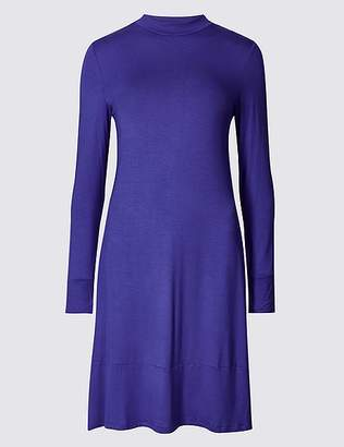 Marks and Spencer Jersey Long Sleeve Swing Dress