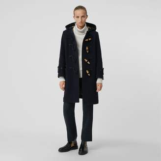 Burberry Wool Blend Oversized Duffle Coat , Size: 06, Blue