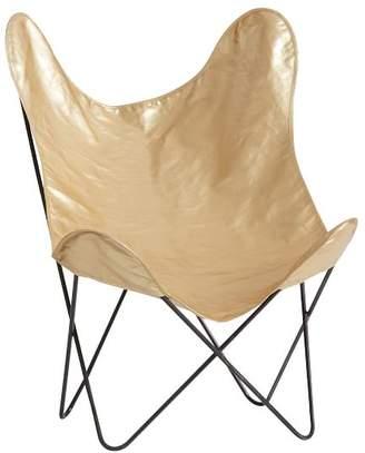 Pottery Barn Teen The Emily & Meritt Butterfly Chair Sling, Gold