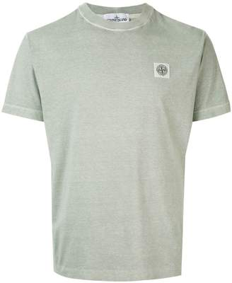 Stone Island overdyed logo patch T-shirt