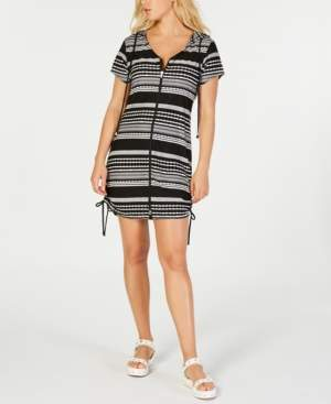 Dotti Ibiza Striped Hoodie Dress Cover-Up Women's Swimsuit