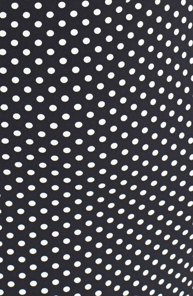 Chaus Side Ruched Polka Dot Dress