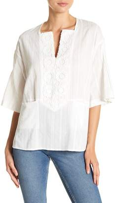 French Connection Oni Crochet Trim Top