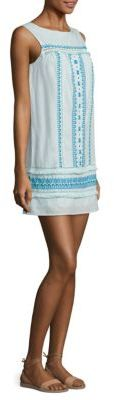 Vineyard Vines Embroidered Linen Blend Dress $148 thestylecure.com