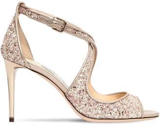 Jimmy Choo 85mm Emily Glittered Sandals