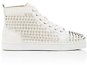 Christian Louboutin Men's Louis Flat Leather Sneakers-White