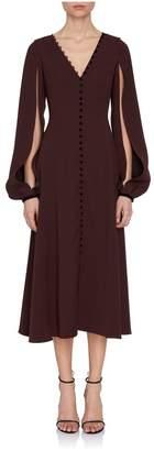 Adeam Long Sleeve V-Neck Dress