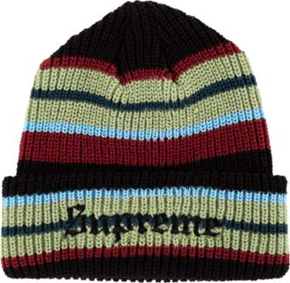 Supreme Bright Stripe Beanie - 'FW 18' - Black