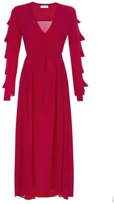 MYKKE HOFMANN - Silk Dress Kacey in Raspberry