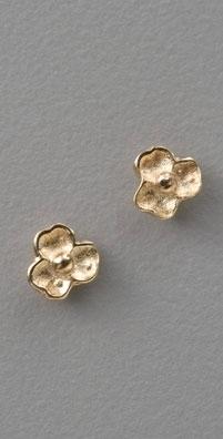 St. Kilda Gold Tiny Flower Studs