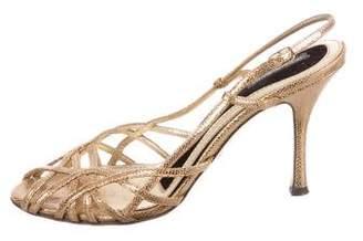 Dolce & Gabbana Metallic Slingback Pumps