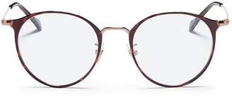 Ray-Ban 'RB6378F' tortoiseshell metal round optical glasses