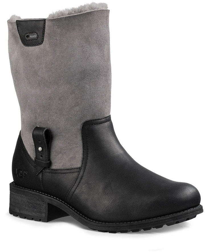UGG Black Chyler Leather Boot - Women