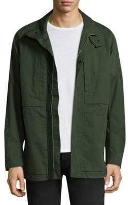 Theory Cotton Long Sleeve Jacket