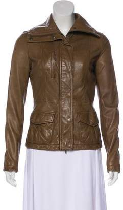 Vince Zip-Up Leather Jacket
