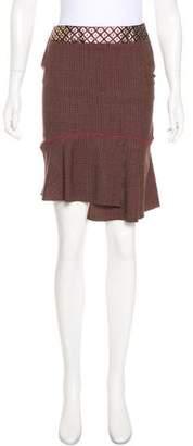 Blumarine Patterned Asymmetrical Skirt
