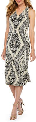 LONDON STYLE Sleeveless Diamond Sheath Dress