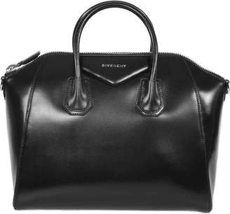 Givenchy HBAG-ANTI-SVR-DET-M Antigona Sugar Goatskin Leather Satchel Bag
