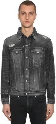 Calvin Klein Jeans Destroyed Cotton Denim Jacket
