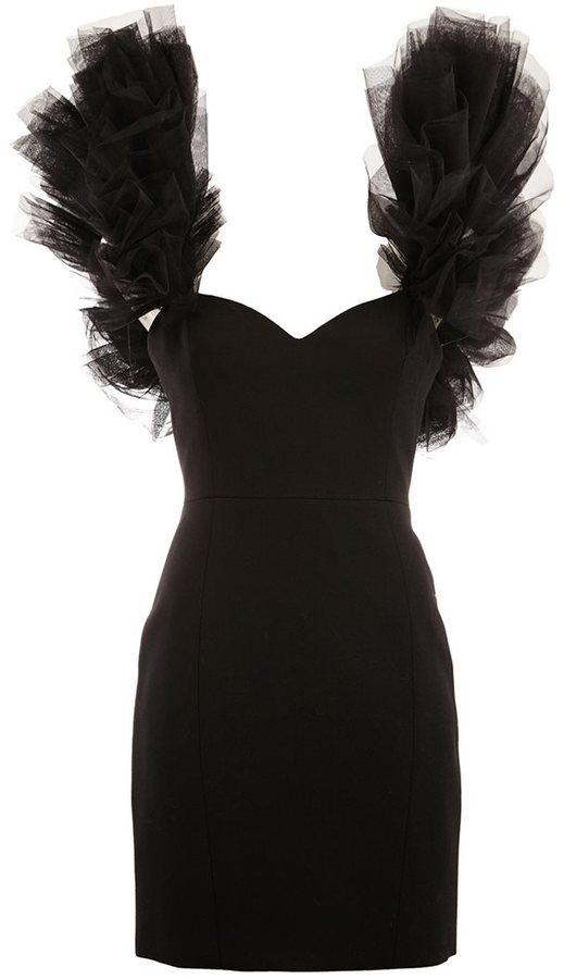 Saint LaurentSaint Laurent layered shoulder mini dress