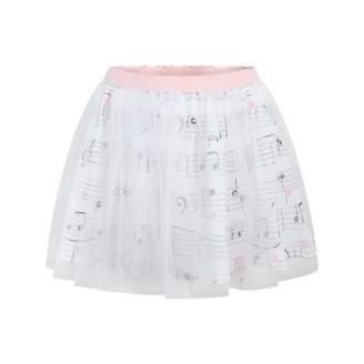 Kate Mack Kate MackWhite Musical Notes Skirt