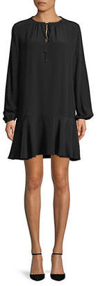 Diane von Furstenberg Embellished Silk Shift Dress