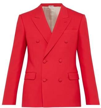 Alexander McQueen Double Breasted Wool Blend Twill Blazer - Mens - Pink