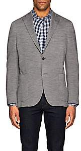 "Boglioli Men's ""K Jacket"" Travel Wool Jersey Two-Button Sportcoat-Gray"