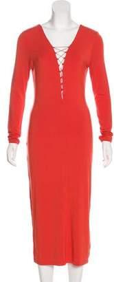 Alexander Wang Lace-Up Midi Dress w/ Tags