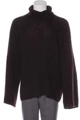 Luciano Barbera Wool Turtleneck Sweater