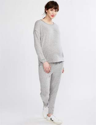 Splendid Under Belly Hacci Knit Maternity Jogger Pant