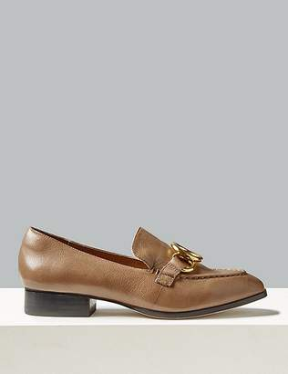 Marks and Spencer Leather Ring Detail Loafers