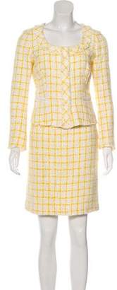 Prada Wool Tweed Skirt Suit