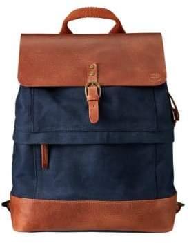 Timberland Nantasket Leather-Trimmed Canvas Backpack