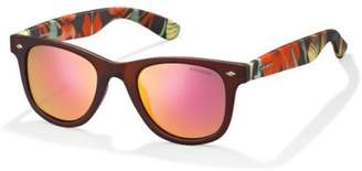 Polaroid Unisex's PLD 6009/S S OZ EVZ Sunglasses, Orgylflw/Red Grey Speckled Pz