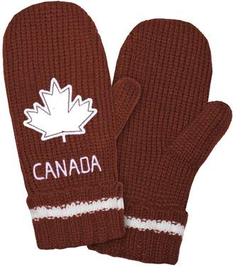 Kootenay Chunky Knit, Fleece Lined, Canada, Maple Leaf, Get Mittens for Men or Women, S/M