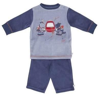 Schlafanzug kurz Baby-Pyjama Baby-Nachtwäsche NEU blau