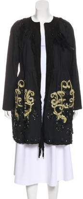 Manoush Embroidered Knee-Length Coat