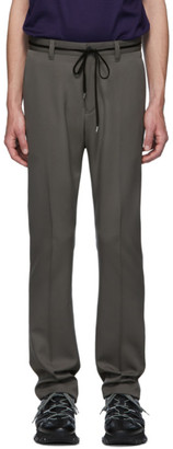 Lanvin Grey Fitted Drawstring Trousers