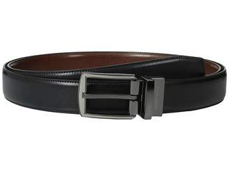 Perry Ellis Portfolio Matte and Hi Shine Buckle Reversible Big Tall Dress Belt
