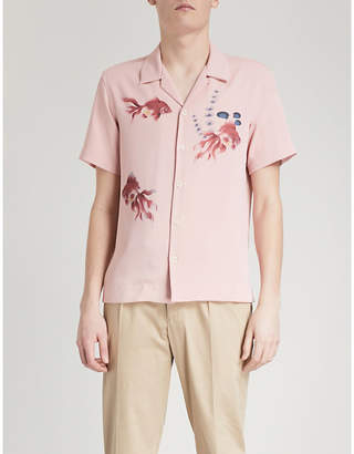 Sandro Goldfish-print regular-fit woven shirt