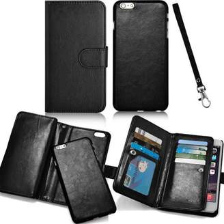 daydayup New 9 Card Slots Holder Flip Wallet Leather Cover with Strap for iPhone6/6s