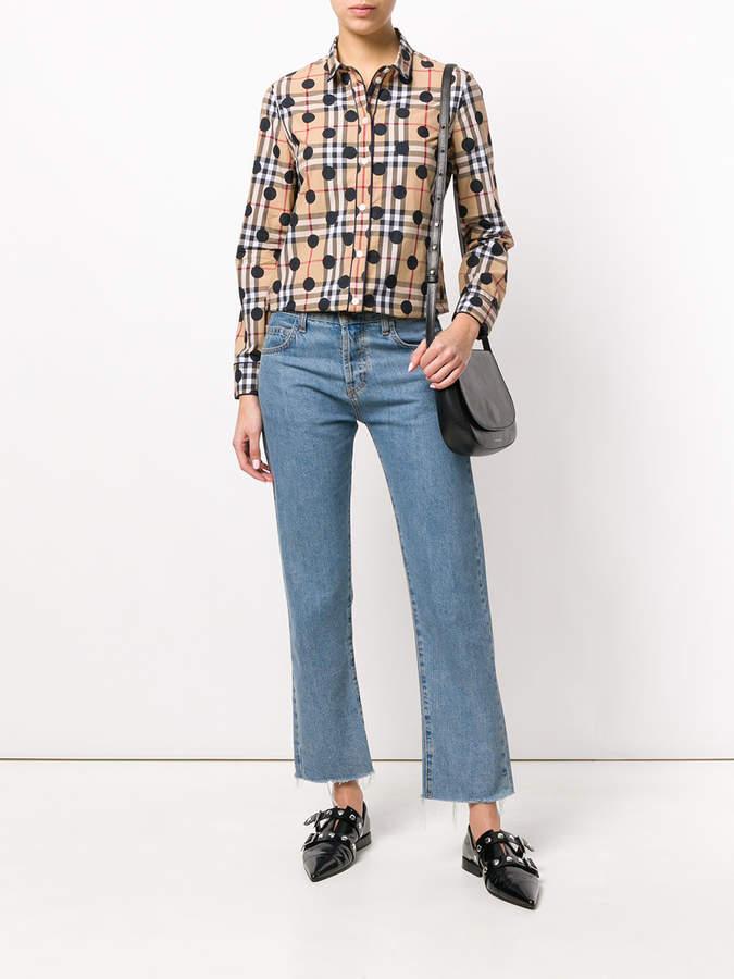 Burberry polka dot shirt